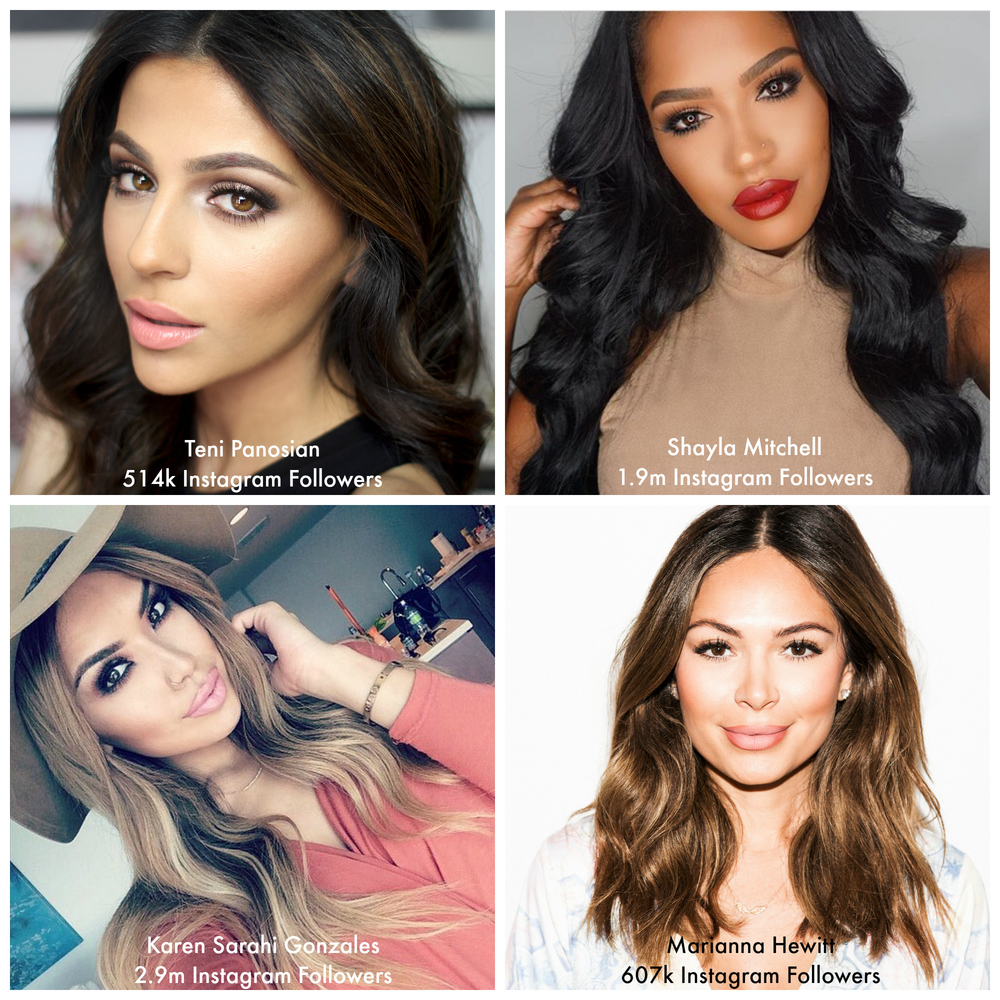 Four incredibly talented beauty bloggers/vloggers who have amassed impressive Instagram followings, and have shared their social media tips.