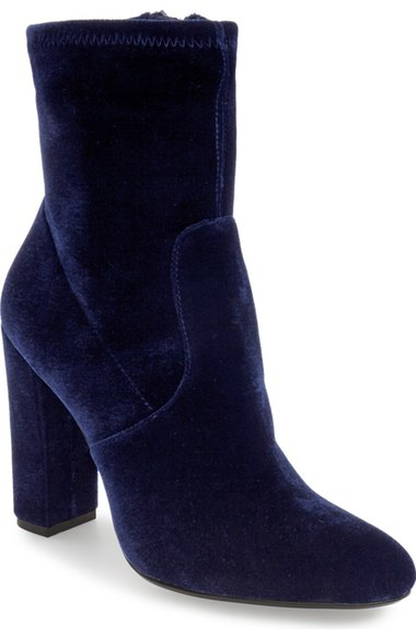 Steve Madden Edit Bootie in Navy (also available in additional colors), $90 at    Nordstrom.com .
