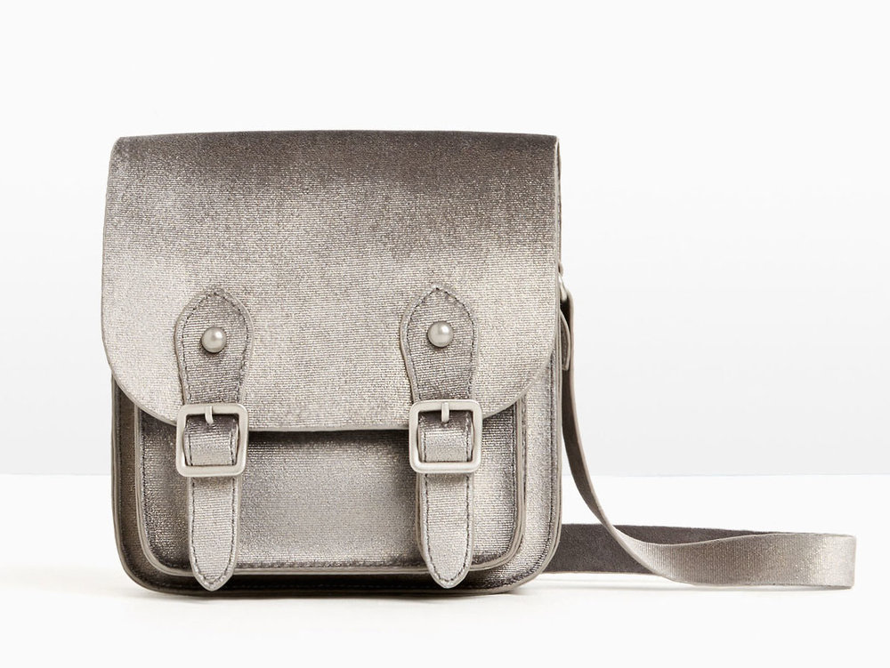 Velvet Crossbody Bag in Grey, $20 at    Zara.com .