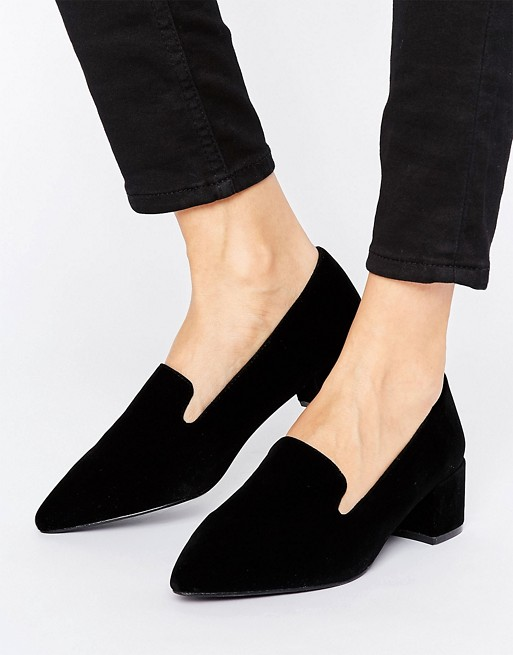 ASOS SIA Velvet Pointed Heels, $38 at    ASOS.com .