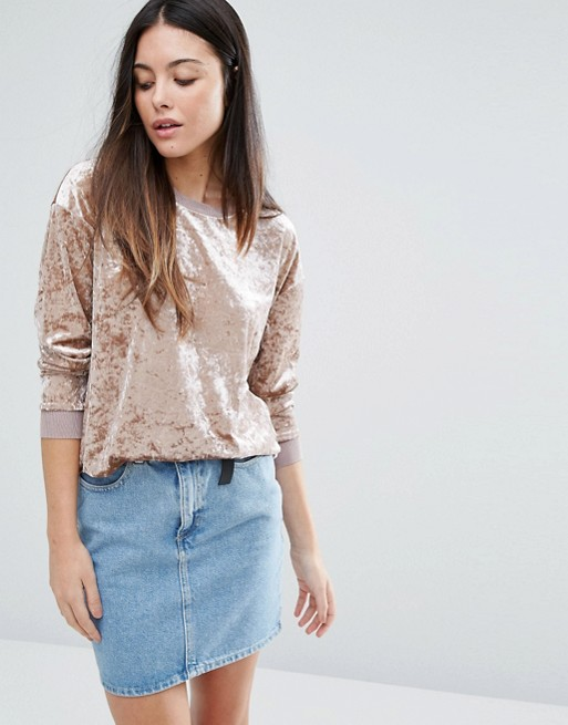 Warehouse Crushed Velvet Sweater, $59 at    ASOS.com .