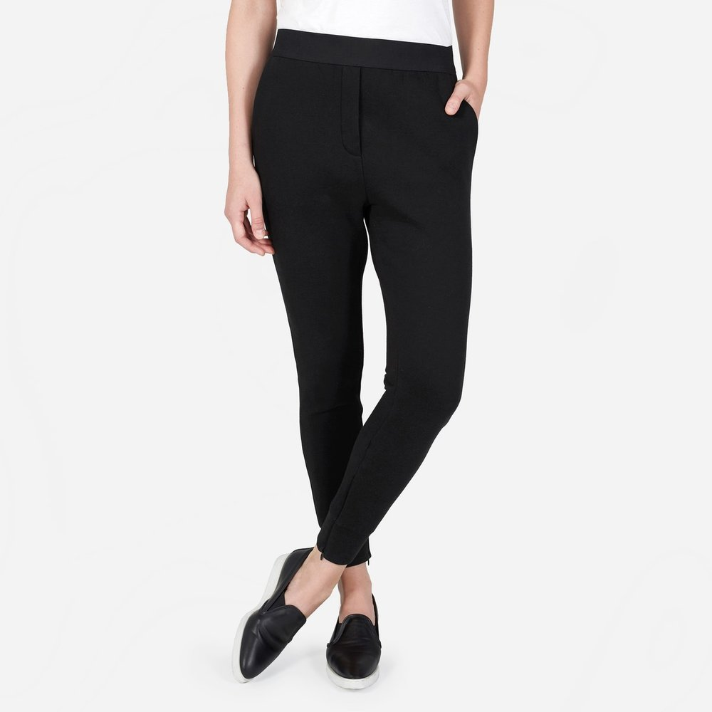 The Street Fleece Pant in Black, $65, Everlane.com.