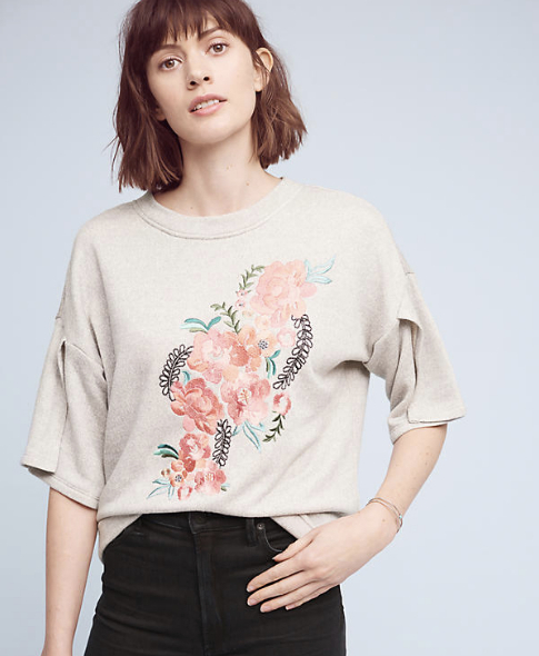 Pure + Gold Perennial Sweatshirt, $98 at Anthropologie.com.