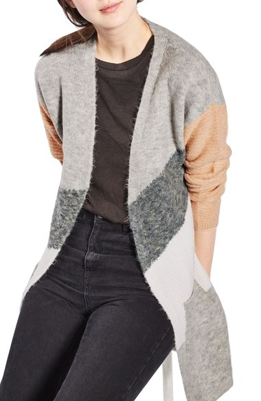 Topshop Diagonal Colorblock Cardigan, $85 at Nordstrom.com.