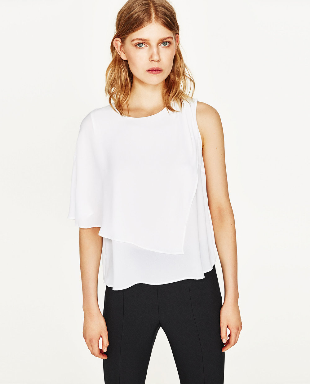 Top with Asymmetric Sleeves, $30 at Zara.com.