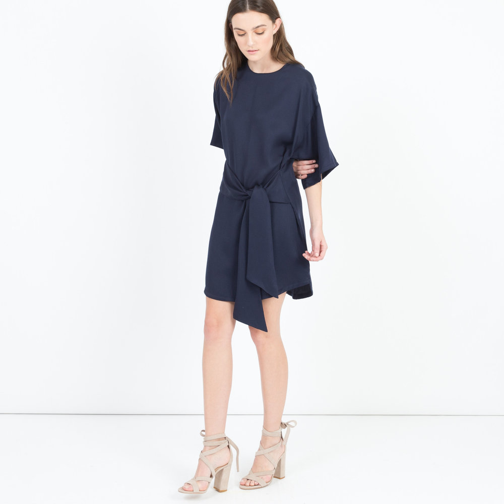 Ambra Tie-Front Flutter Dress (Navy), $98 at ModernCitizen.com.