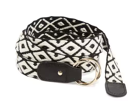 Braided Black & White Belt for Women, $12