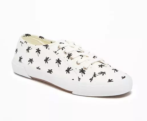 Canvas Sneakers for Women in Palms, $22