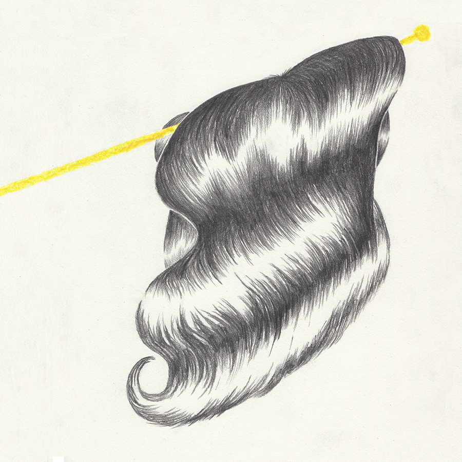 Swinging Your Hair Like a Victory  graphite and china marker on paper