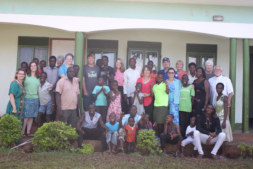 Our USA team that traveled to Uganda taking their photo with our family and friends at Tender Mercies Outreach Foundation in Kayunga District. May, 2016.