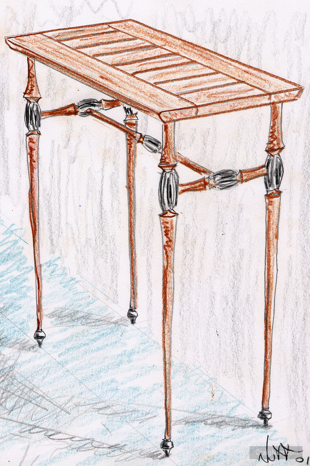 Drawing for Hopkins Table