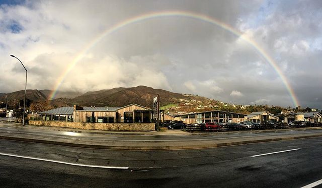 Rain and rainbows healing our mountains after the fires! From Malibu west to Malibu park this rainbow appeared ! Right above Vintage Market and Trancas village! #malibustrong #malibutimesmag #malibu #rainbow #trancas #healingenergy