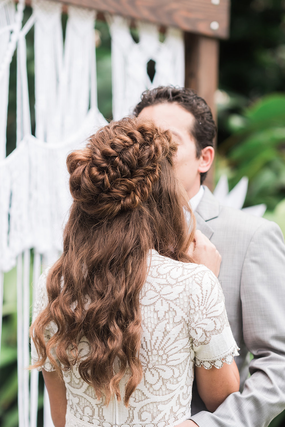 Boho Braided Half Updo For this hawaiin Dream of a wedding    Photo by- Rae Marshall Photography     www.raemarshall.com