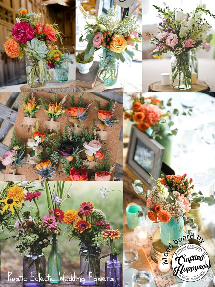Colourful Nevertheless Well Coordinated Colours Mind You Flowers Loosely Arranged In Bottles Or Jars