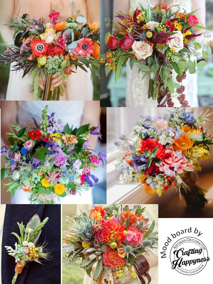 Bridal Bouquets Of Rustic Eclectic Theme