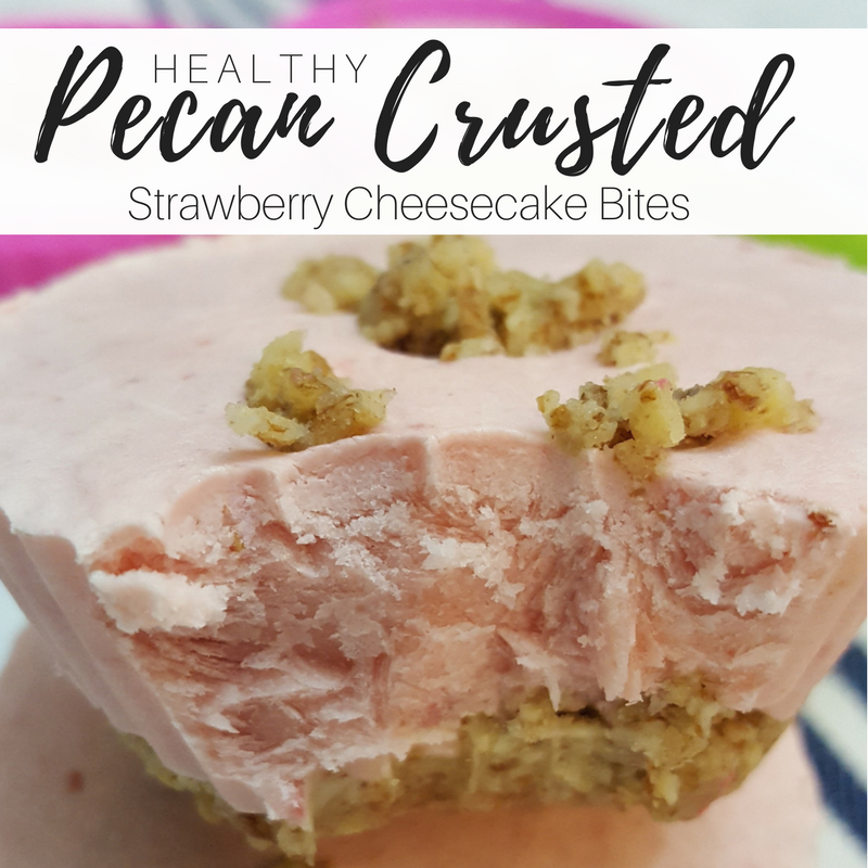 The Pecan Crust is Salty and Nutty the perfect combination to the creamy Strawberry filling!