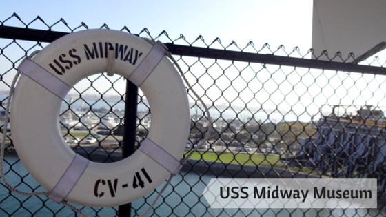 A view from the deck of the uss midway