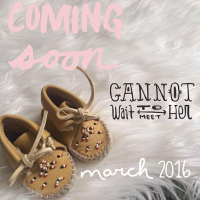 Such a sweet baby announcement!