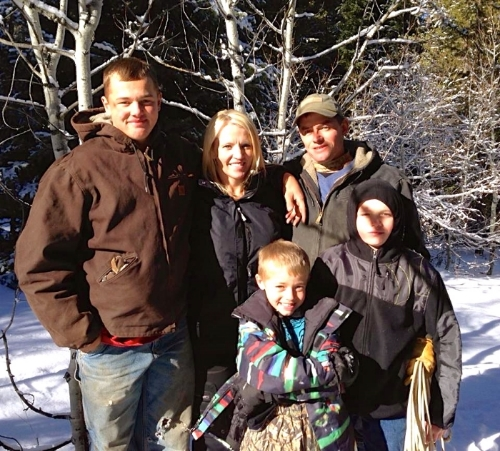 Leslie, Todd and their three boys, Colton, Tanner and Holden.