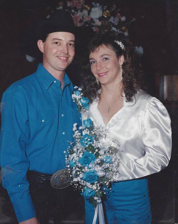 Shelly and Danny on their wedding day.