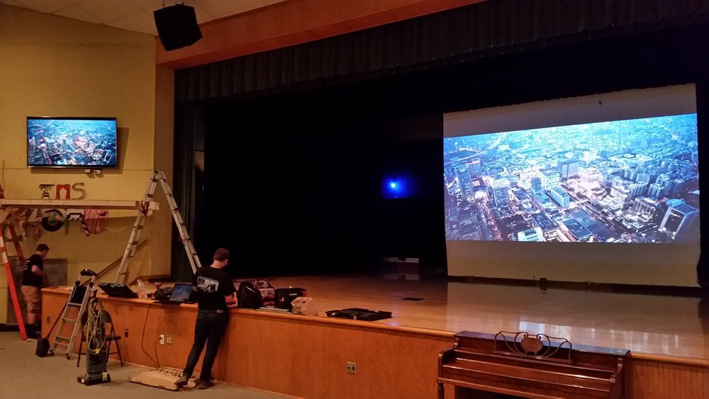School auditorium video system