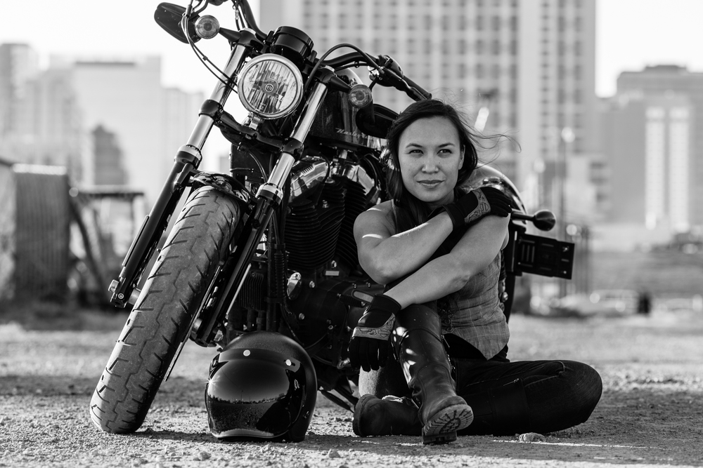 """Portraits with me and my one and only...My motorcycle. Daniel was super easy to work with. I was nervous but easily relaxed with him. My photos turned out amazing and the turn around time was less than a few hours. What more could I have asked for? Hoping he can come to my work for some event photography next!"" - Dawn Webster"