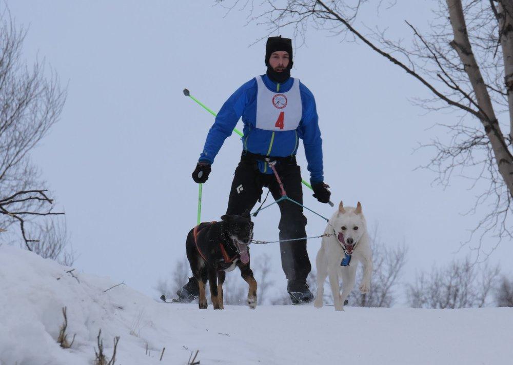 Matt Reimer with Polar Bear and Cleo