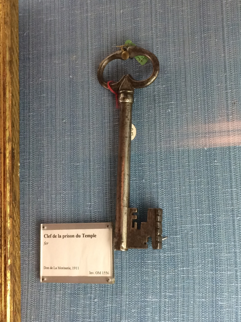 The key to Le Temple, the name of the the prison that held the royal family after the French Revolution.