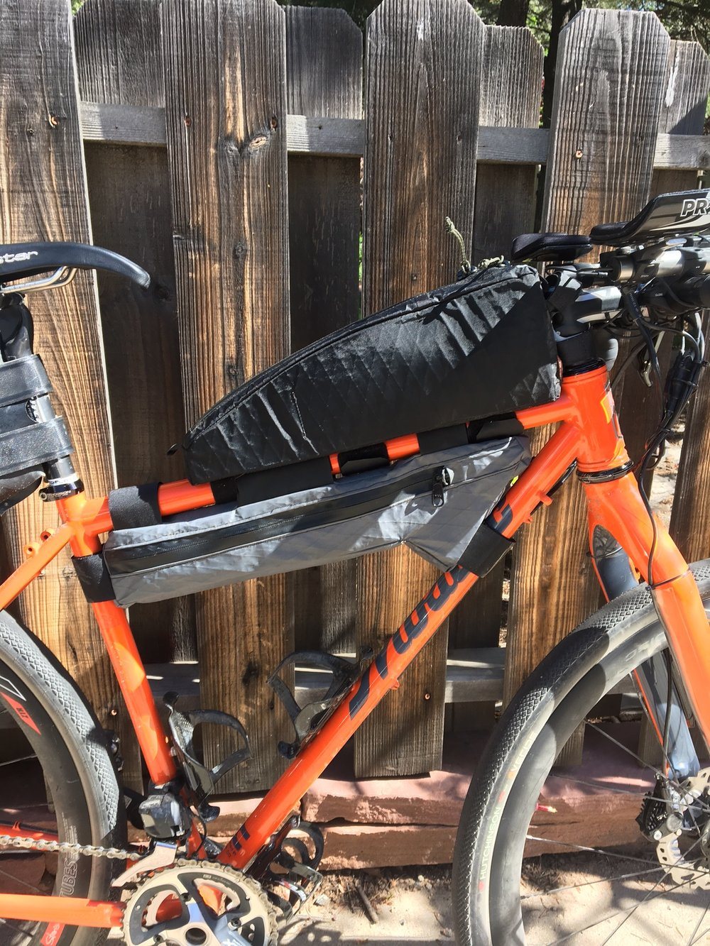"My new Bolder Bikepacking custom top tube bag. I call it ""Goliath."""