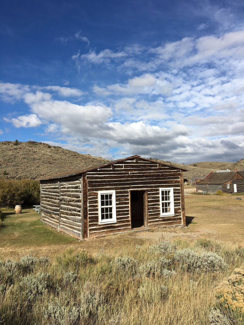 One of the preserved cabins in South Pass City
