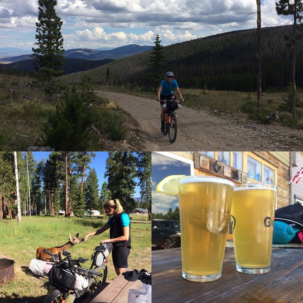 Scenes from Ovando and Lincoln on our bikepacking adventure in 2016