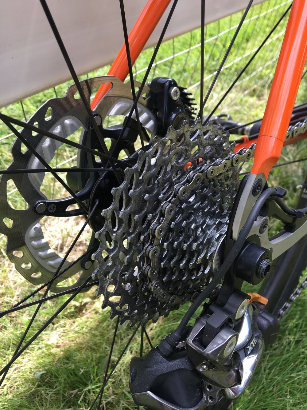 While I left the 42/30 chainrings alone, I installed a SRAM 11-36 cassette instead of the Shimano 11-40 I used for Tour Divide. The 11-36 gives smaller jumps, nice for flatter roads.