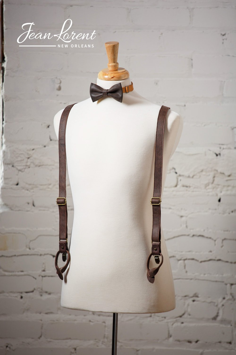 Mocha Bow Tie and Suspenders