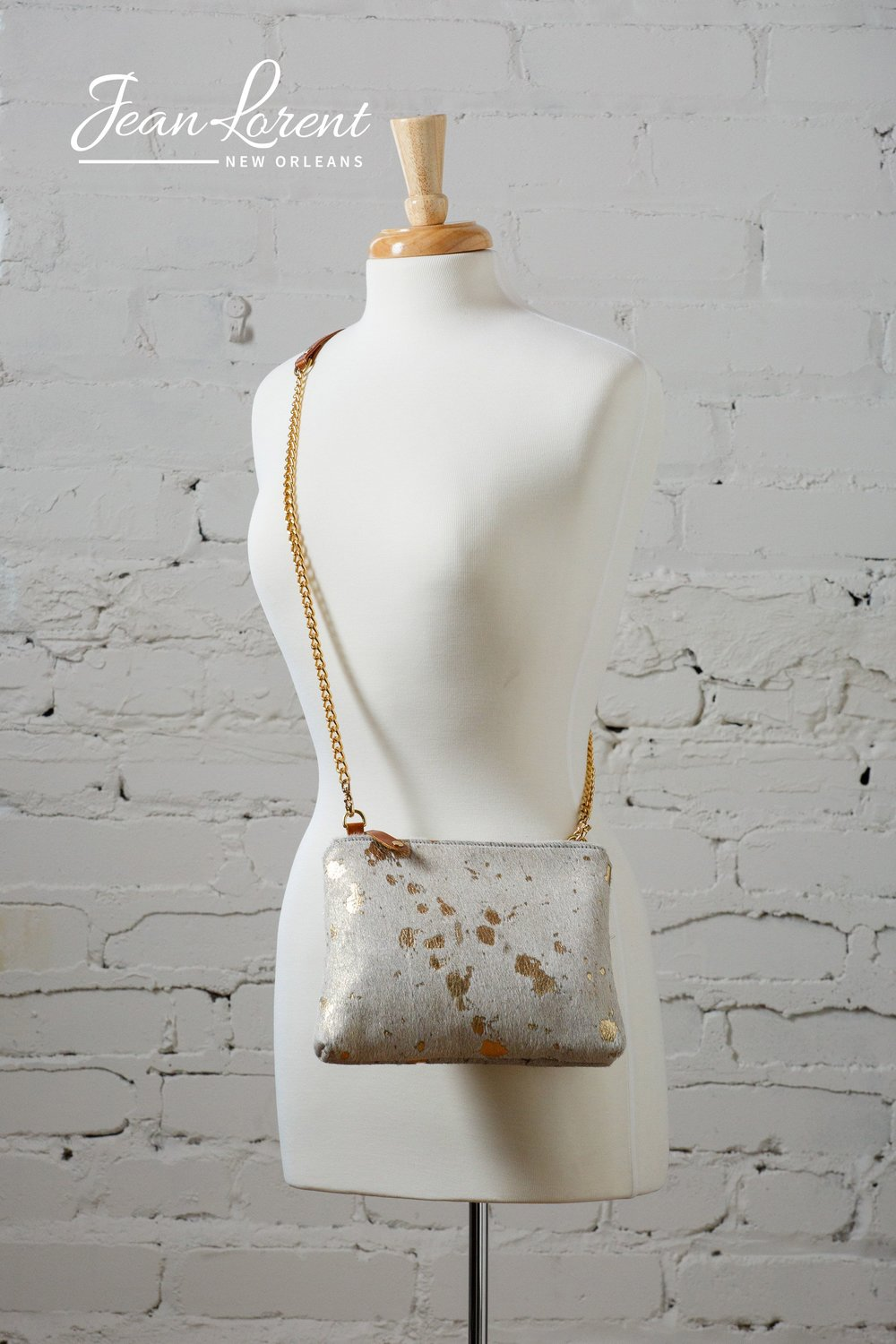 Gold Speckled Hair on Cow Crossbody