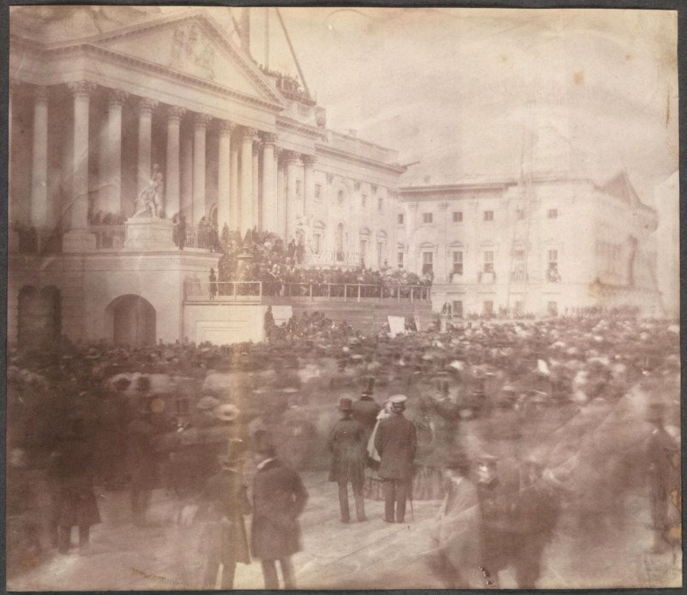 Inauguration of James Buchanan, President of the United States, at the east front of the U.S. Capitol, March 4, 1857. Montgomery C. Meigs Papers—Library of Congress
