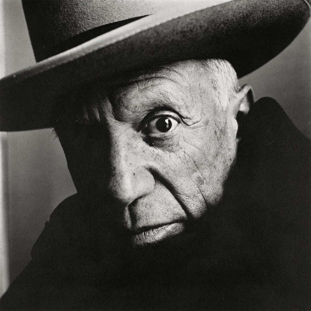 """Pablo Picasso at La Californie, Cannes,"" 1957, Copyright The Irving Penn Foundation"
