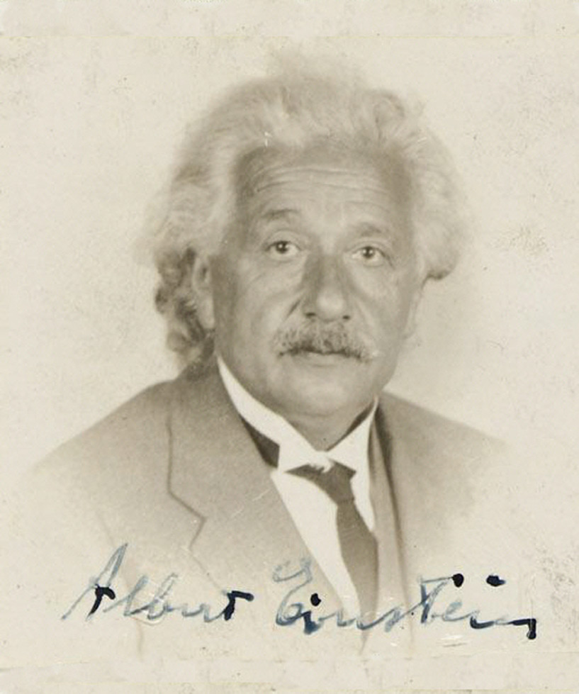 Albert Einstein in January 1936