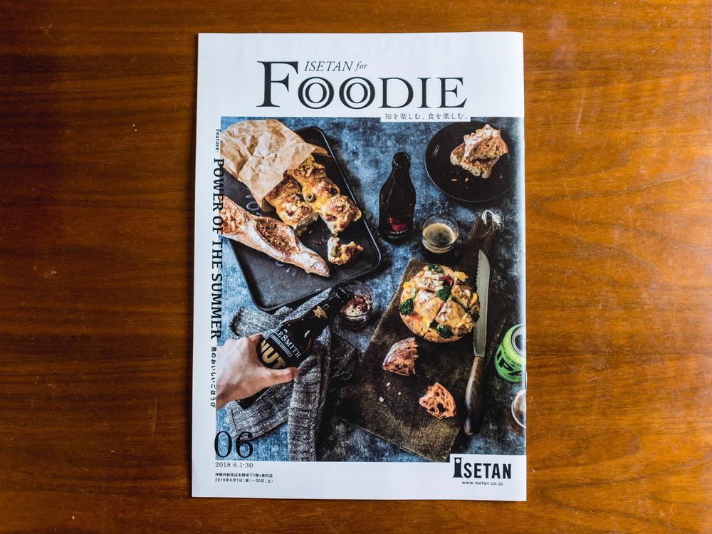 ISETAN for FOODIE6月号表紙、中ページと撮影させていただいております。