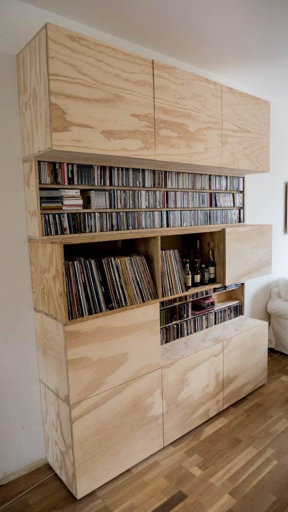 Underlayment boekenkast — Quinten Miller Meubel en ontwerp