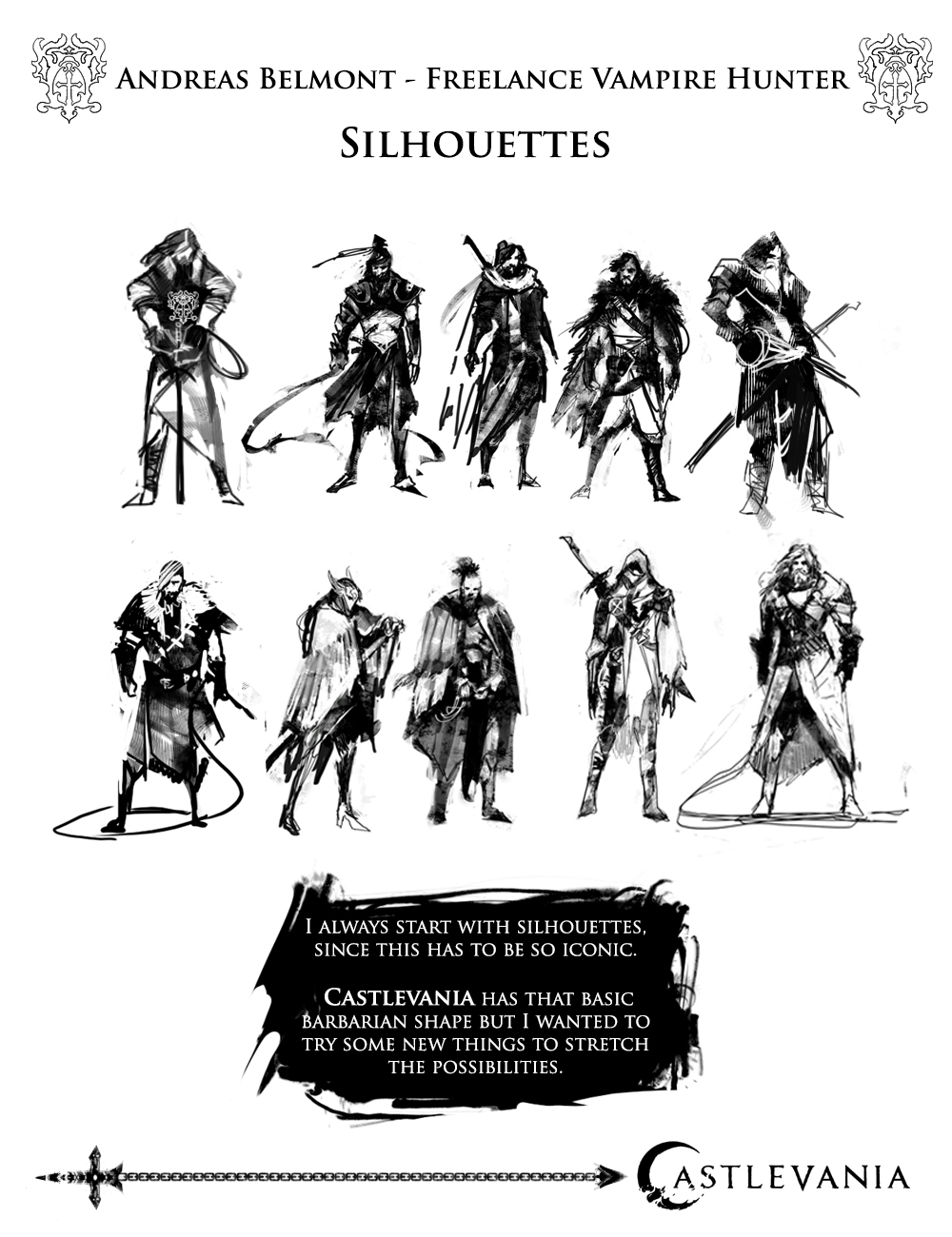 Test for Power House as a Character Designer - PHASE 1 - SKETCHES/SILLOUETTES