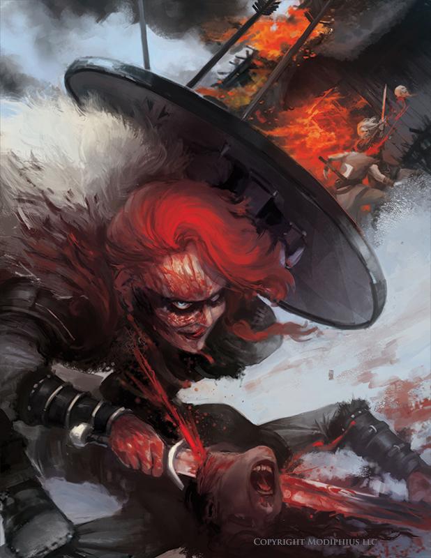 Freiya The Red - Conan RPG Copyright © Modiphiüs Entertainment