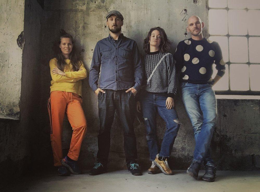 From left to right. Hanna Roloff, Carl-Oscar Karlsson, Liv Trulsson & Markus Emilsson