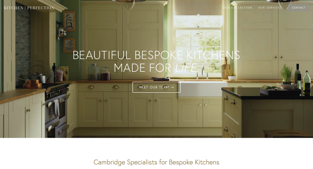 homepage kitchen-perfection beautiful design digital agency
