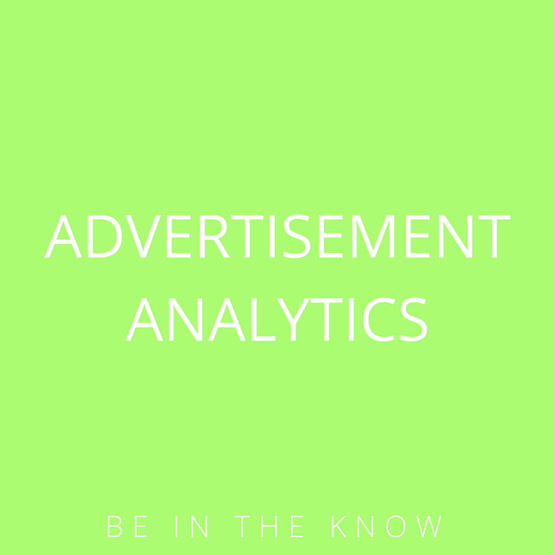 Advertisement Analytics