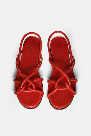 51d616a419f red leather rope sandals on footbed ...