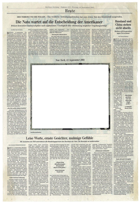 Roland Schefferski, Empty Images - Berliner Zeitung II, 2001