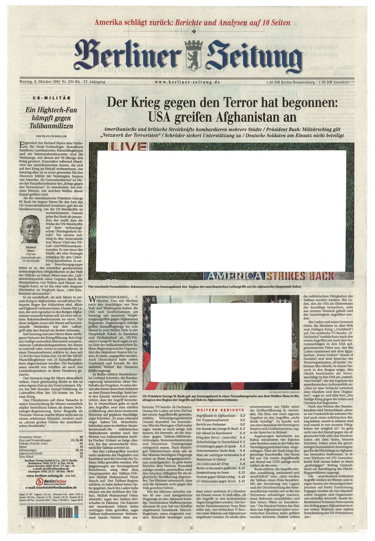 Roland Schefferski, Empty Images - Berliner Zeitung, 2001