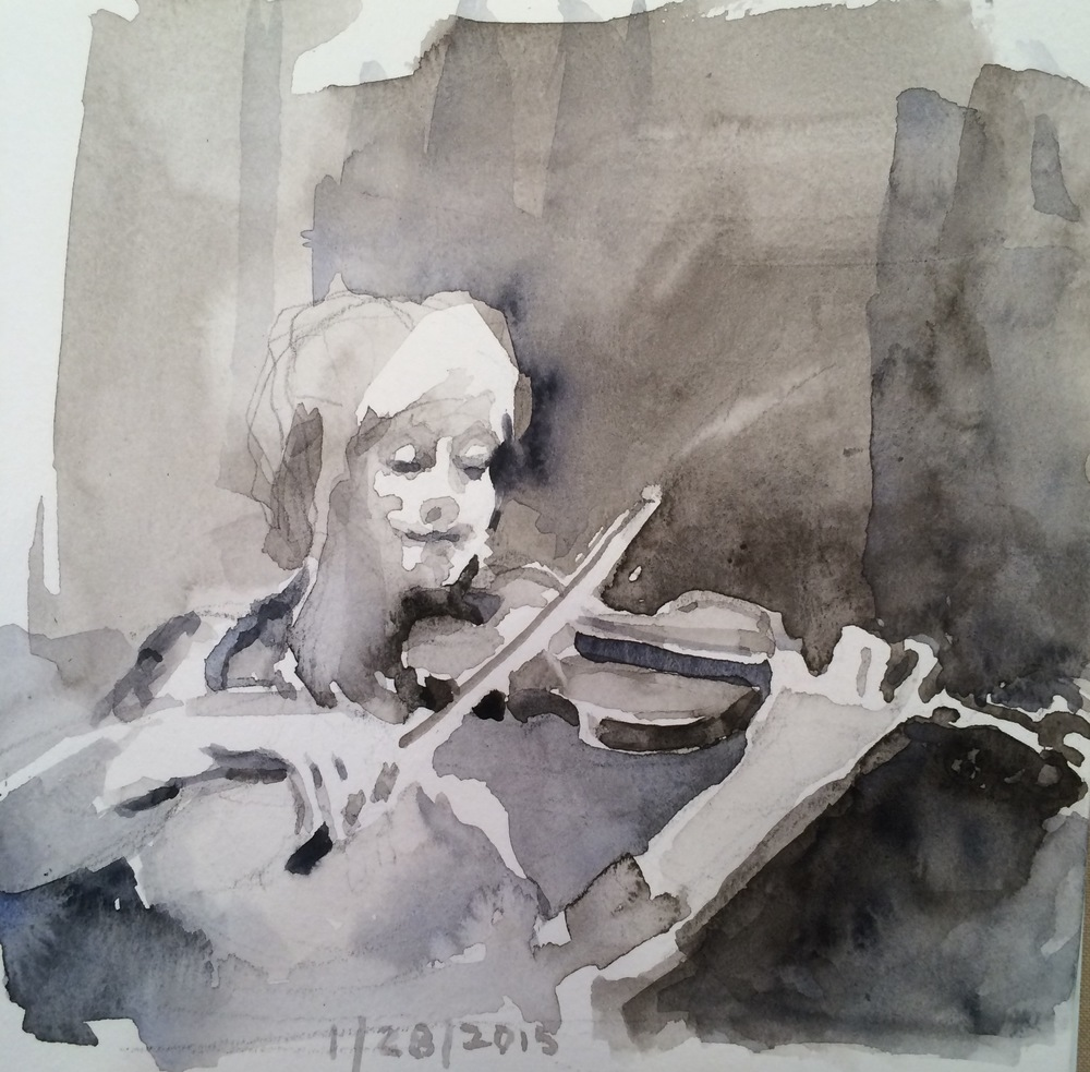 Violinist BW study.jpg