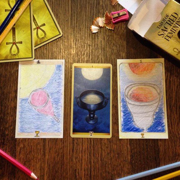 Ace of Cups Tarot Cards by Ashton James and Chloe Skerlak