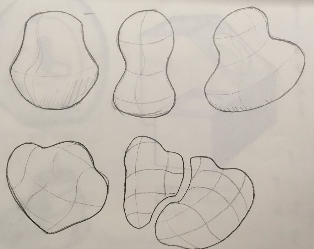 Initial sketches for the pestle